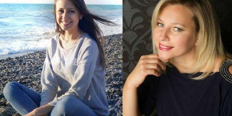 Погибшая Алла Сокол (справа) - вдова бойца АТО. С ней погибла и ее 19-летняя дочь Анастасия
