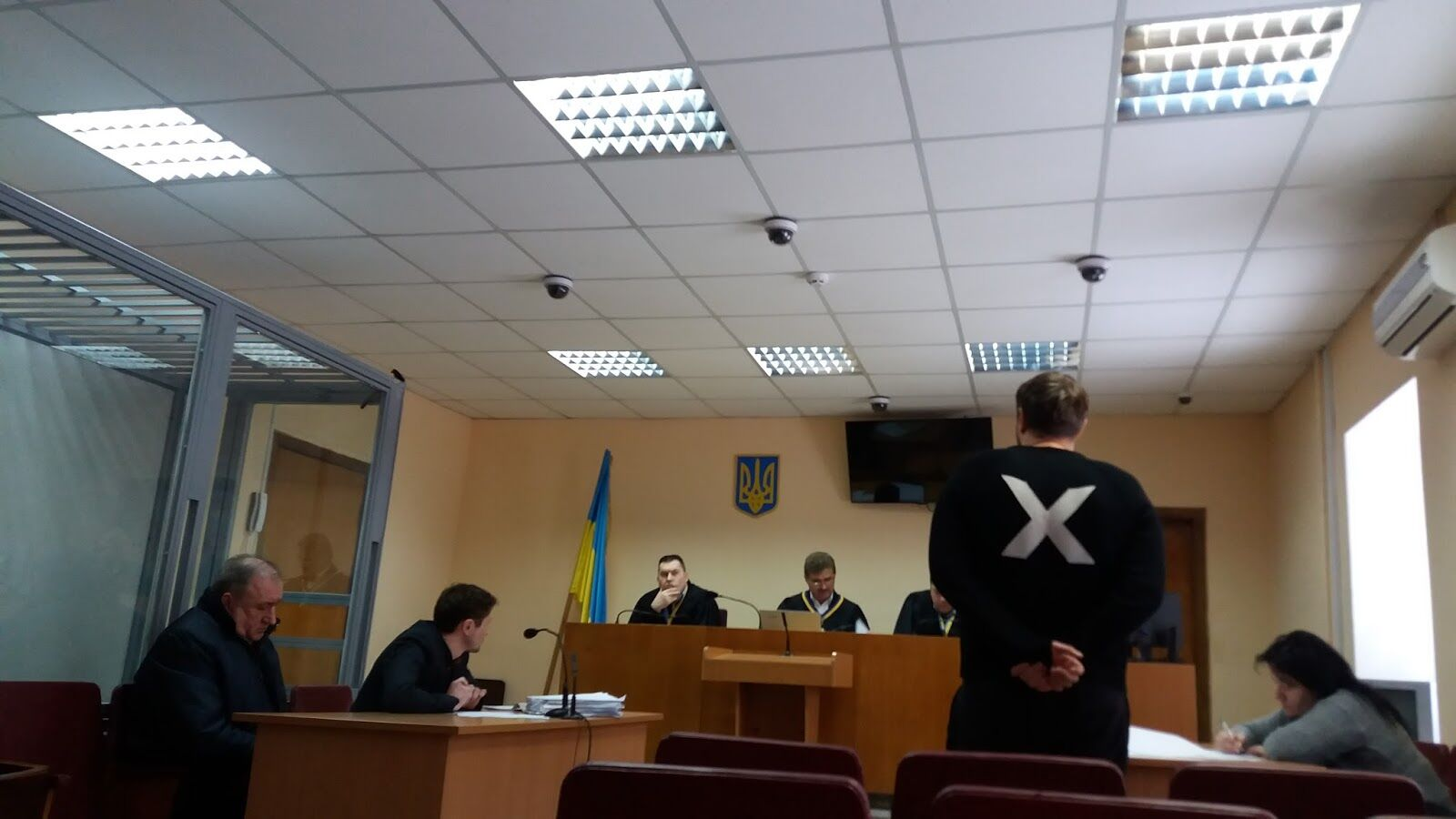 Экс-судья Голосеевского суда Киева Александр Билык дает показания