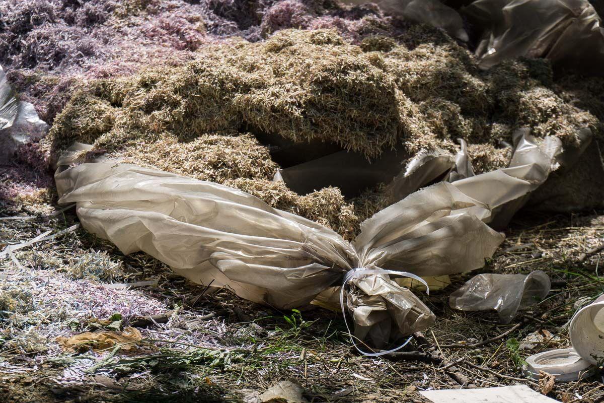 Під Дніпром знайшли мішки з мільйонами гривень