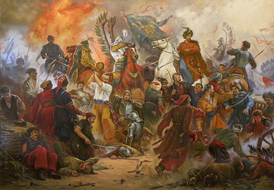 """""""Битва під Берестечком"""", картина А. Орленова"""