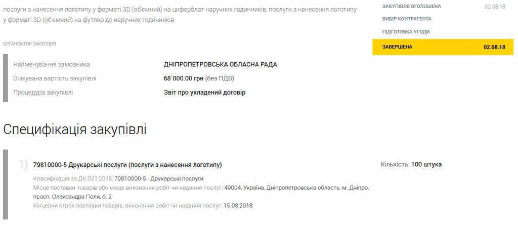 У Дніпрі облрада прикрасила годинники майже за 143 тисячі грн