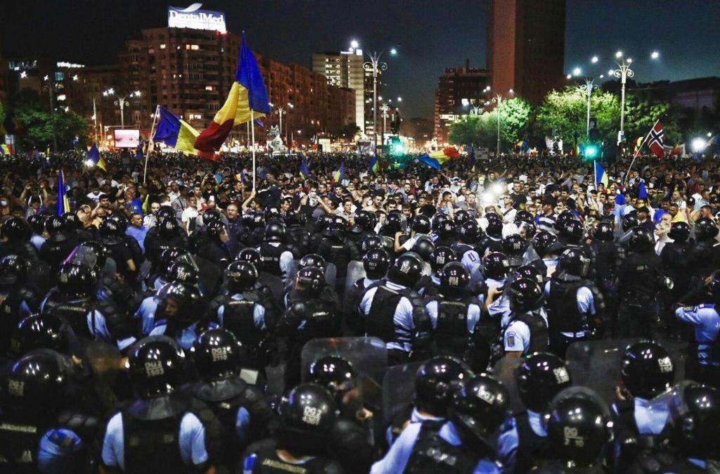 Протесты в Румынии: Бухарест охватили массовые акции протеста: более 100 пострадавших. Фото и видео 1