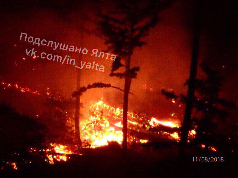 Пожар в Ялте