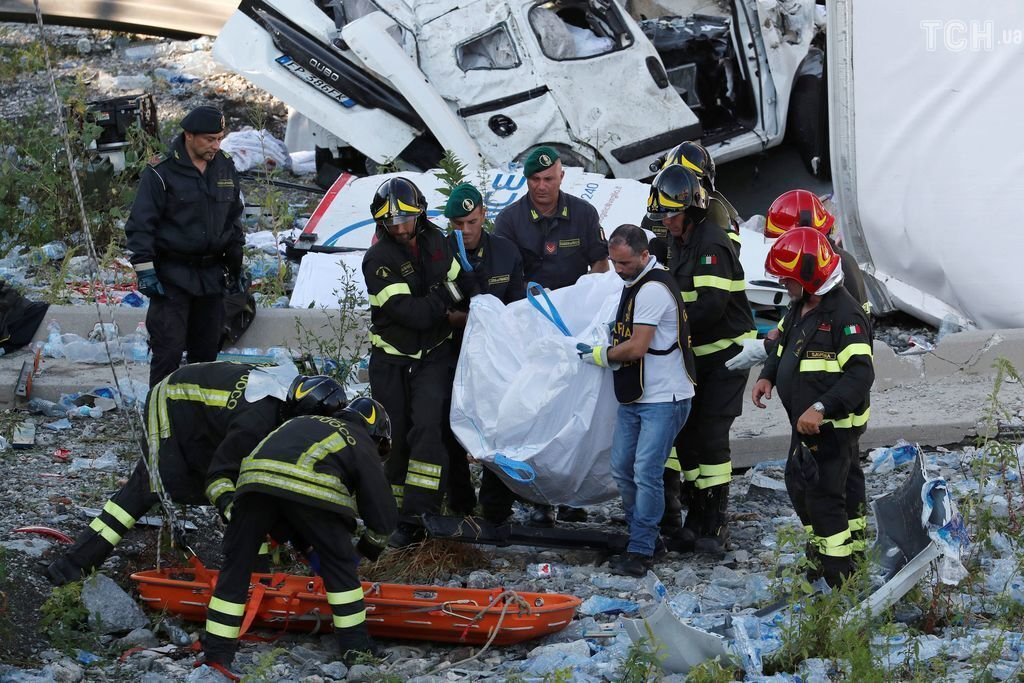 Трагедия в Генуе: число жертв возросло