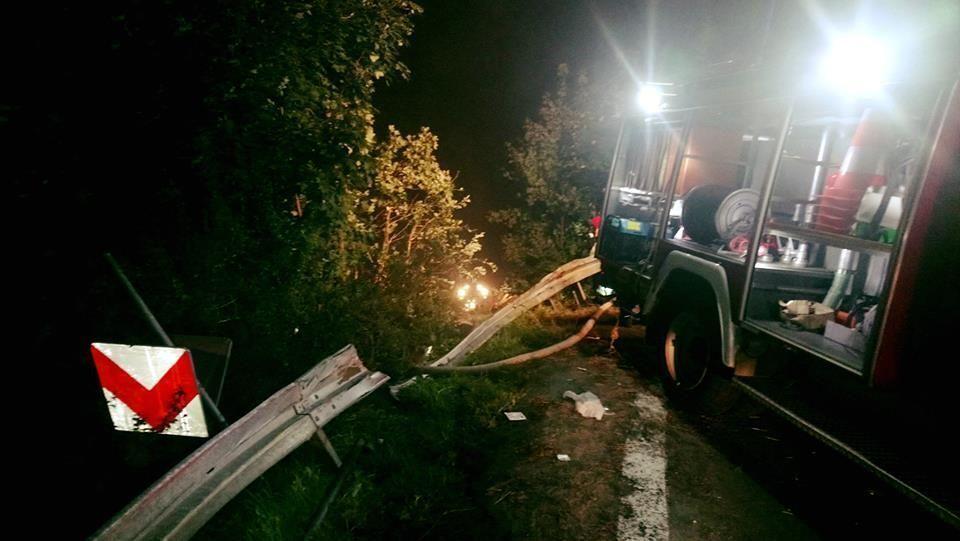 В Польше рухнул со склона автобус с украинцами