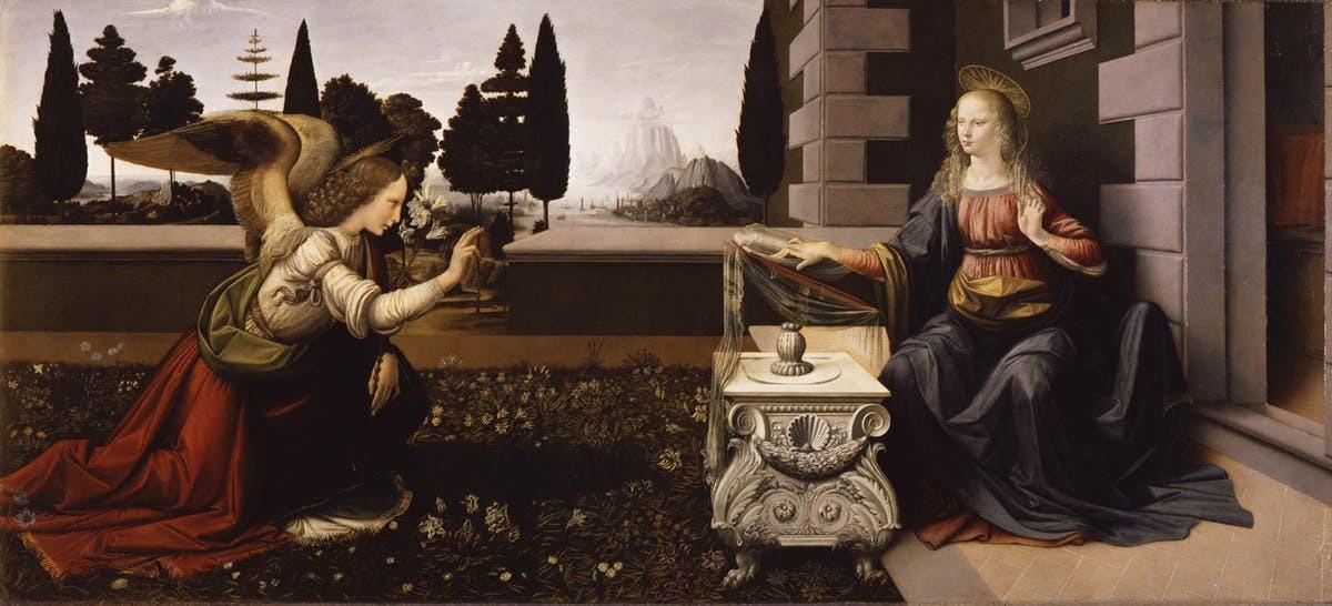 """""""Благовіщення"""" Леонардо да Вінчі"""