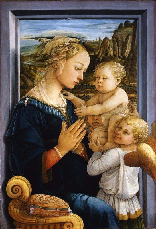 """""""Мадонна з немовлям з двома ангелами"""" Філіппо Ліппі"""