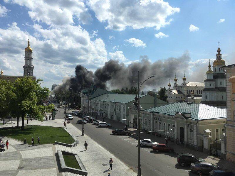 В Харькове загорелось культовое здание: все подробности ЧП