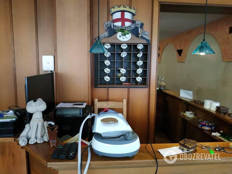 Отель Resi в Падуе, Италия, с очень скромным завтраком, которого на всю группу не хватило.