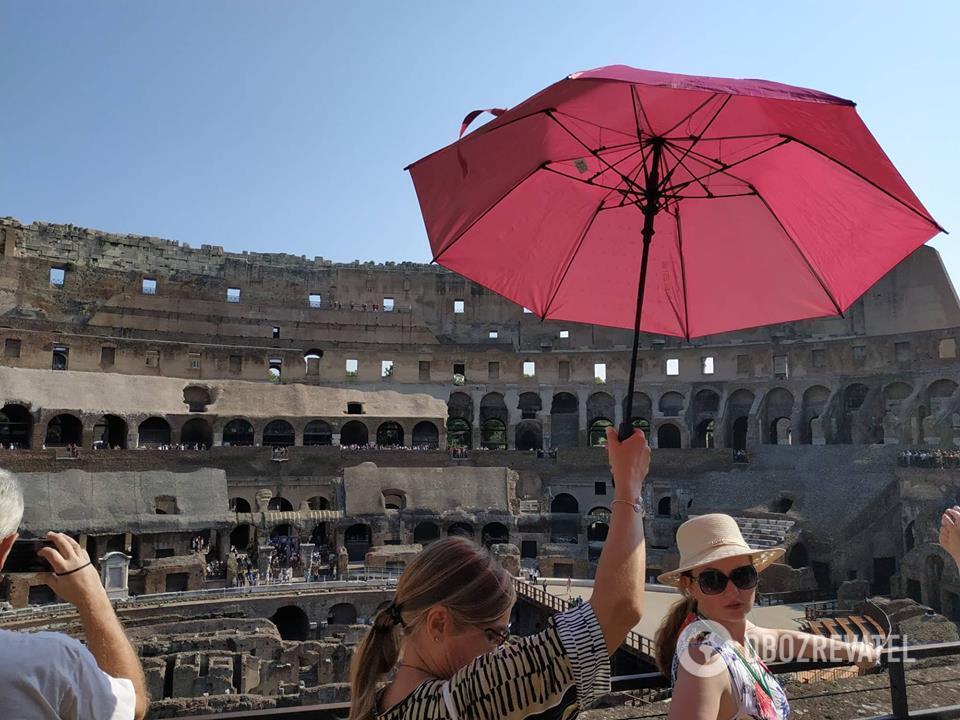 На экскурсии в Колизее, Рим