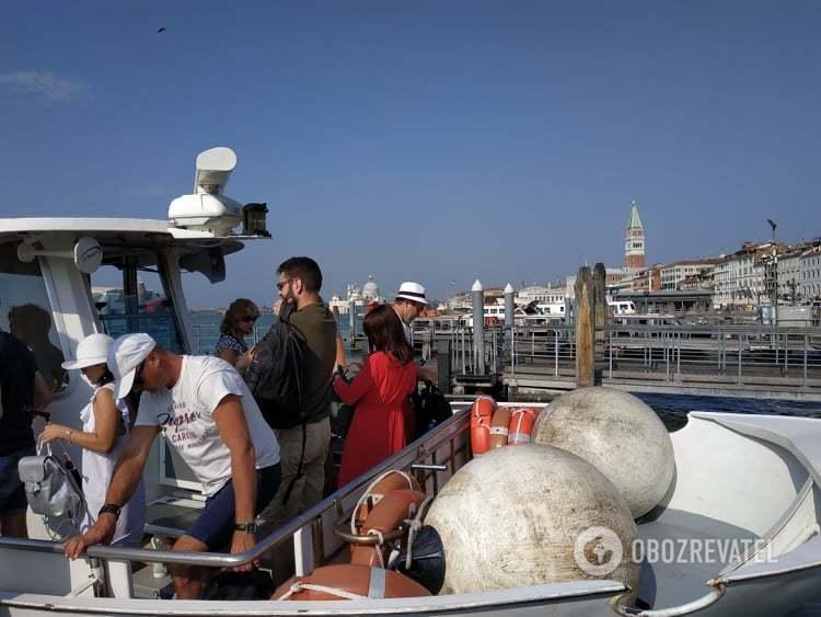 В Венецию на катере
