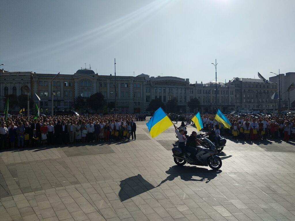 В Харькове устроили яркое шоу ко Дню города: как это было