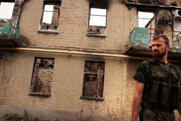 Разрушения в Иловайске после боев
