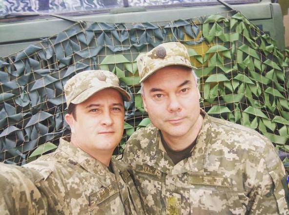 Анатолий с главой ООС Сергеем Наевым