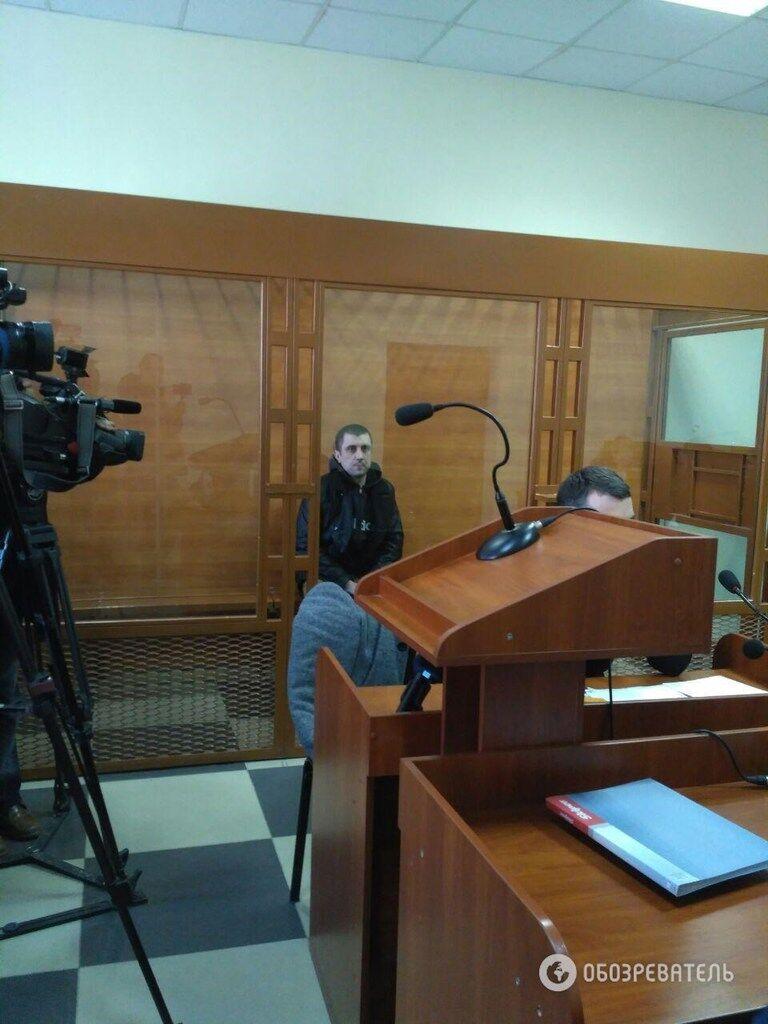 Дмитрий Россошанский во время суда