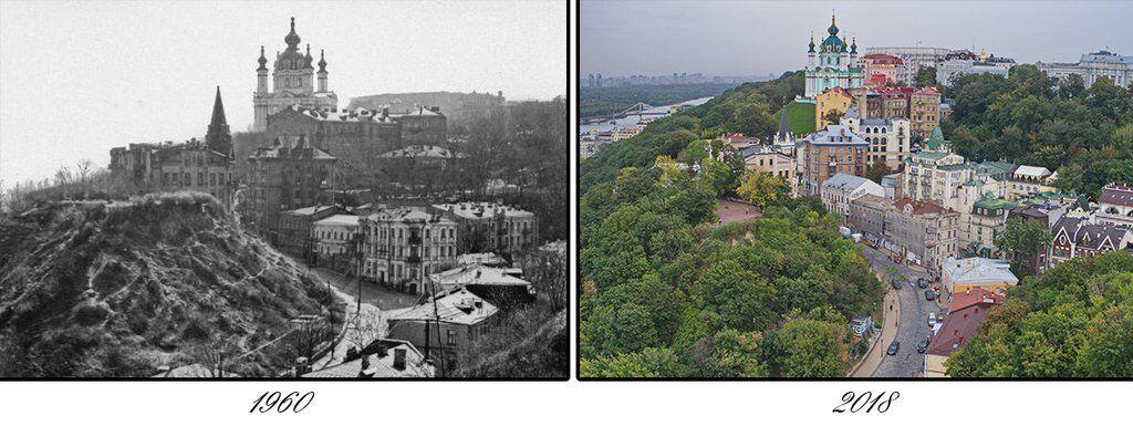 274 года разницы: как изменился Андреевский спуск в Киеве