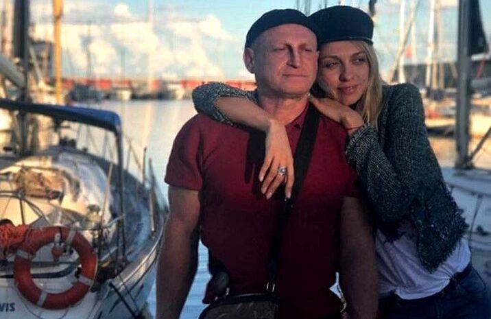Оля Полякова с супругом Вадимом