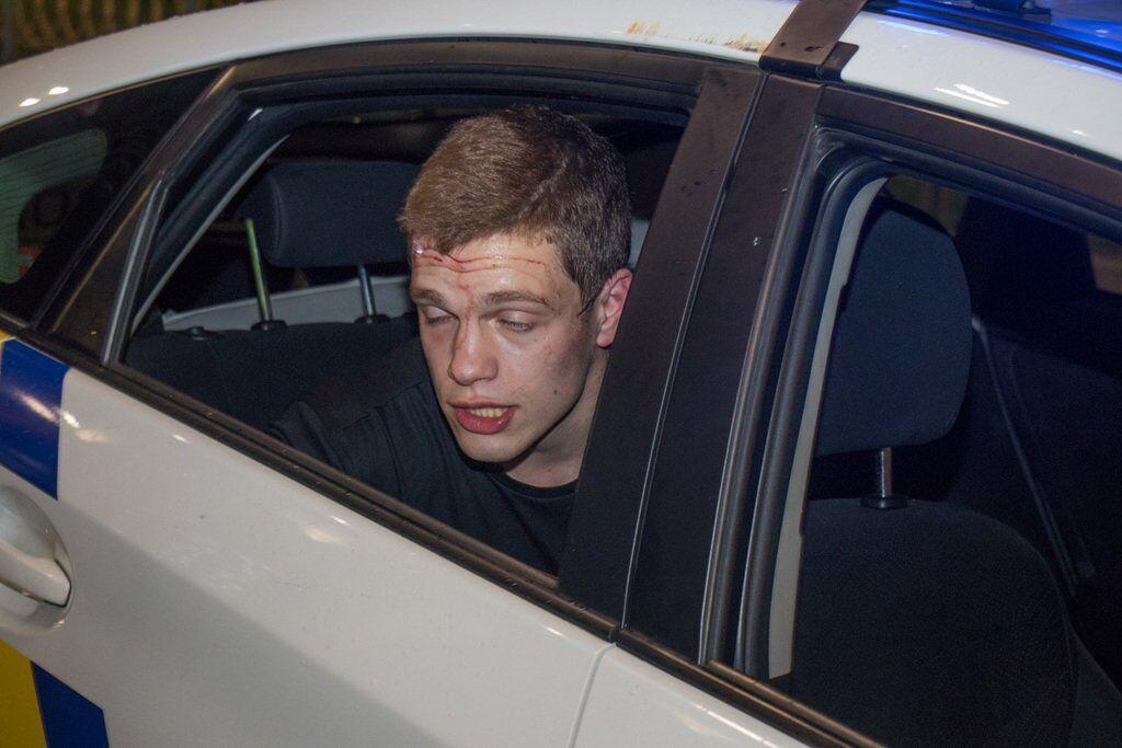 Кирилл Островский в момент задержания