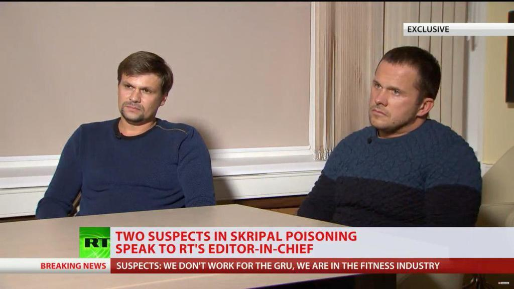 Отравление Скрипалей: подозреваемые россияне дали первое интервью пропагандистам