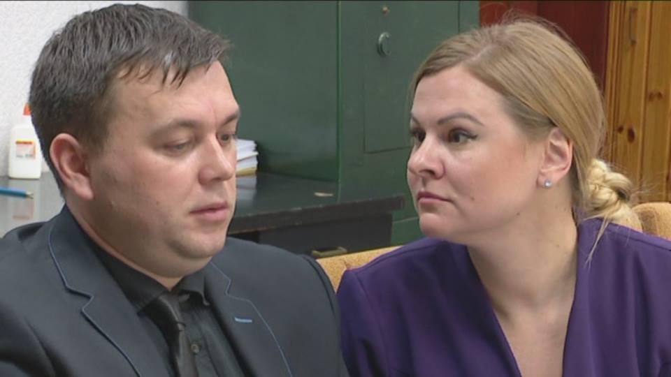 Евгений Мельниченко и Юлия Козырь в суде