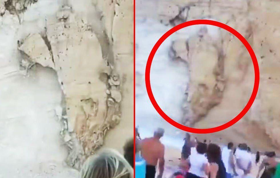 На популярном курорте Греции скала рухнула на туристов: фото и видео ЧП