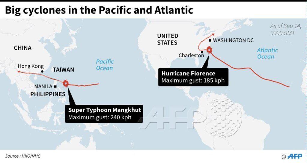 """Смертоносный ураган """"Флоренция"""" достиг берегов США: онлайн"""