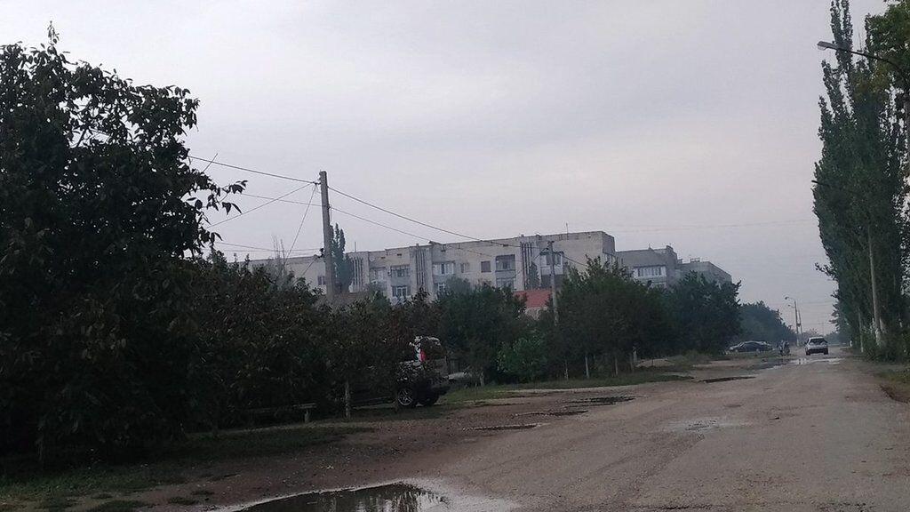 В Крыму город затянуло странной дымкой