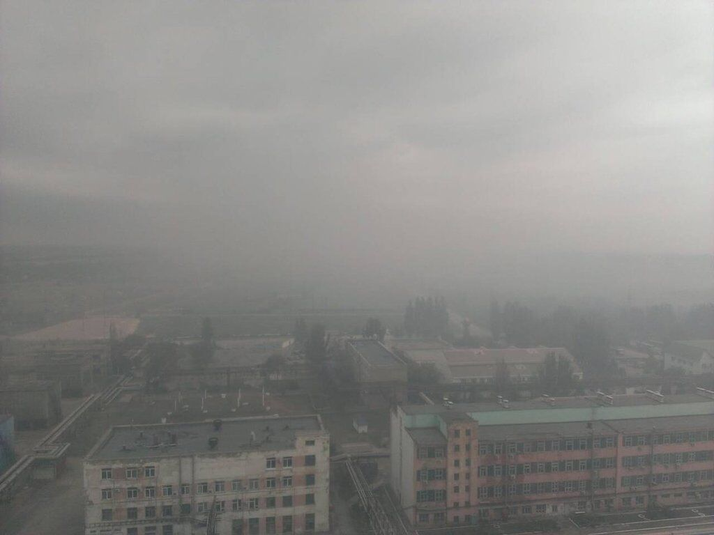 Крымчане показали новое фото химической дымки