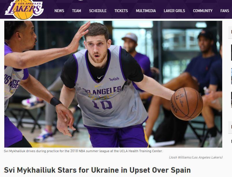 ''Блестящий!'' Клуб НБА восхитился Михайлюком