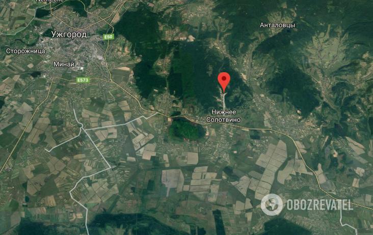 ДТП произошло недалеко от Ужгорода