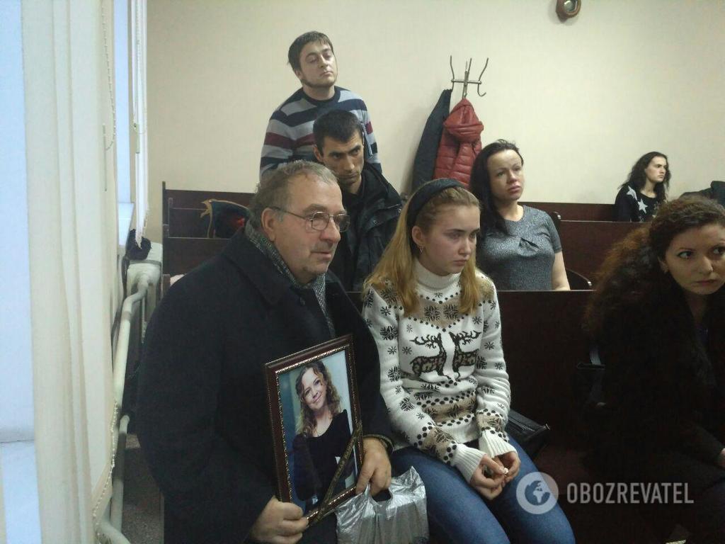 Отец Ноздровской Сергей Дуняк с внучкой Настей