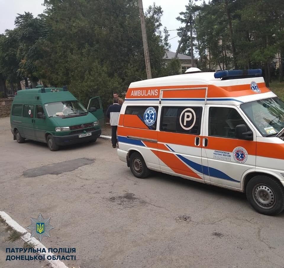 Украинская полицейская сбила женщину на переходе