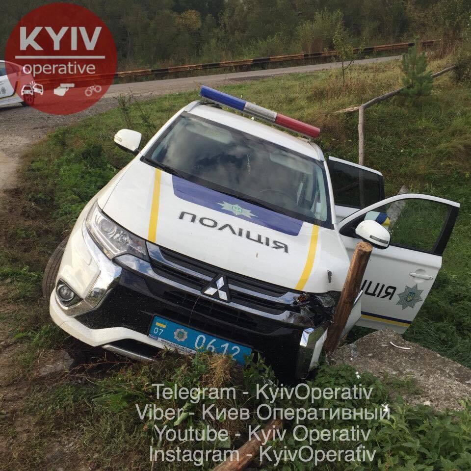 Раскрыта причина очередного ДТП с полицией на Закарпатье