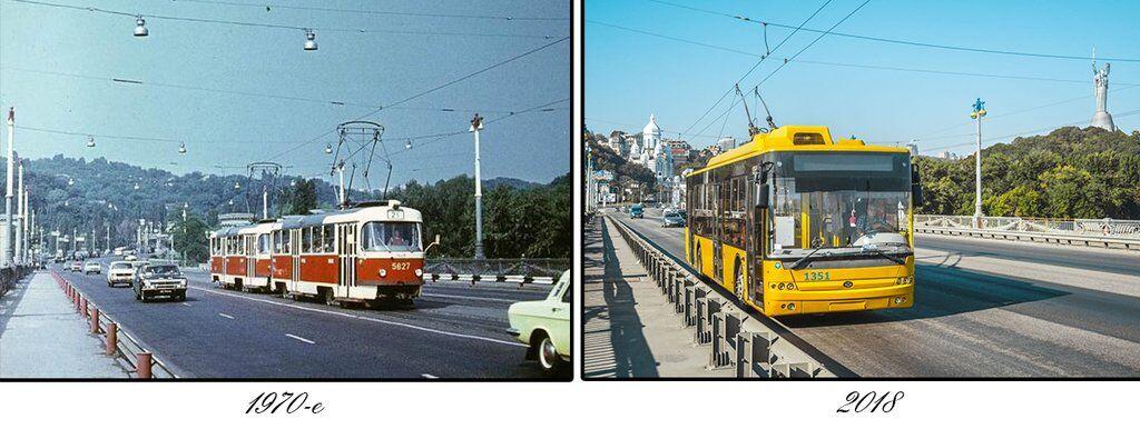 Как менялся один из старейших мостов Киева: фото за 68 лет