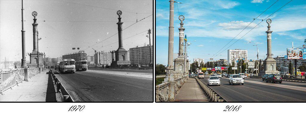 Як змінювався один із найстаріших мостів Києва: фото за 68 років