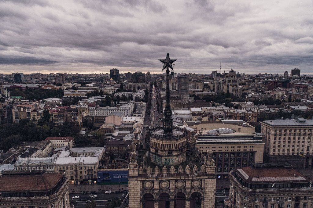Осінь вже тут: з'явилися фото і відео похмурого Києва з висоти