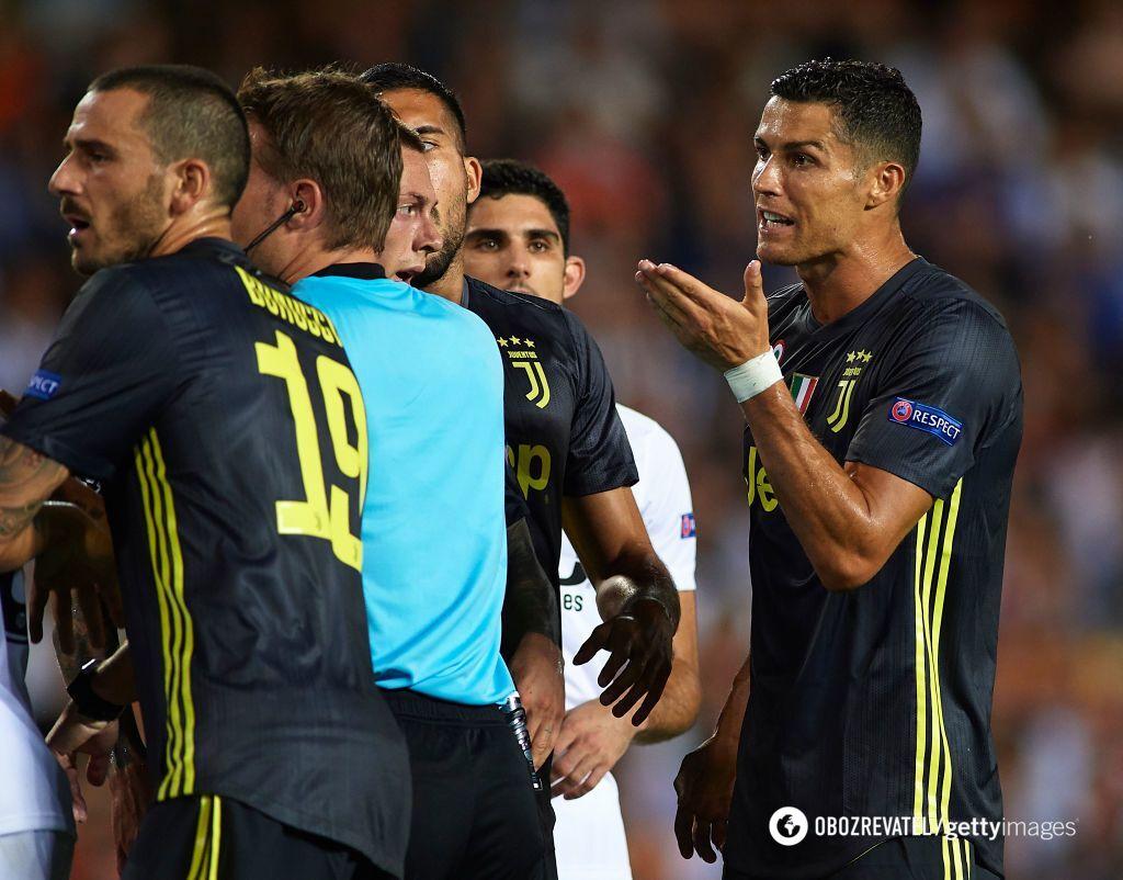 УЄФА покарав Роналду у Лізі чемпіонів