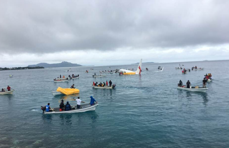 Пассажирский самолет ''рухнул'' в океан в Микронезии