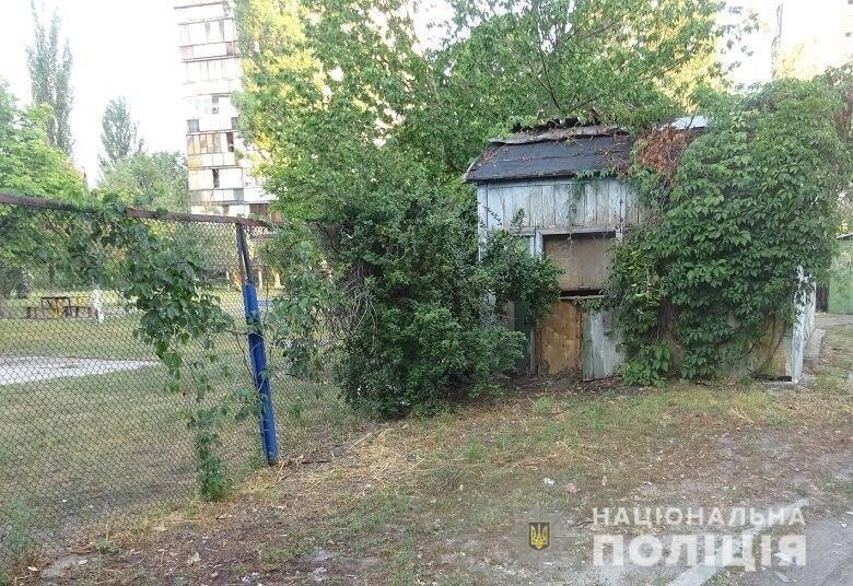 Место изнасилования в Днепровском районе