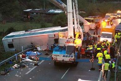 В Іспанії розбився автобус: п'ятеро загиблих, десятки постраждалих