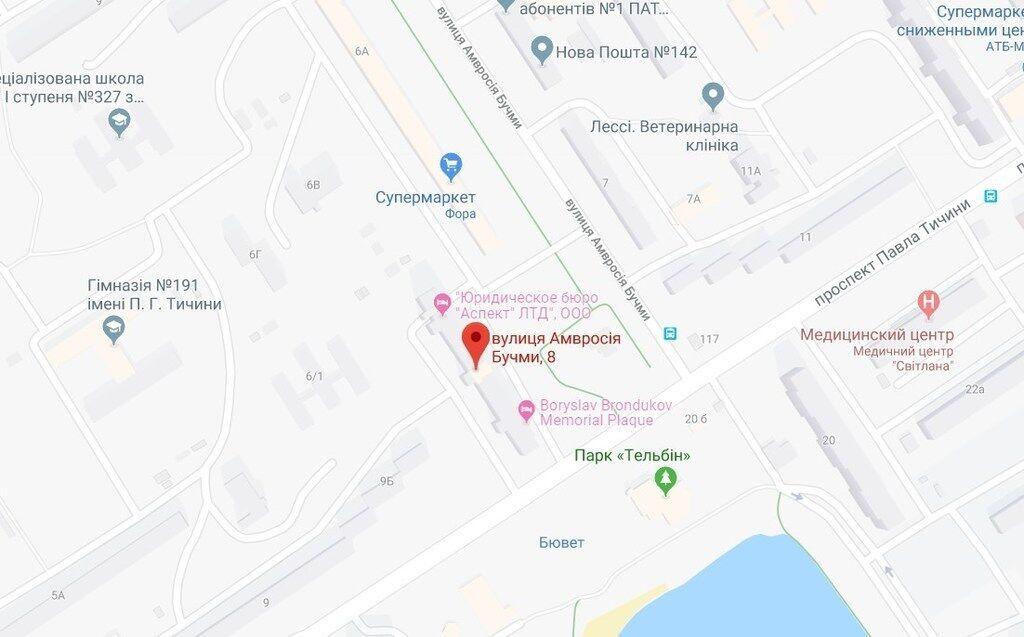Место изнасилования в Днепровском районе на карте