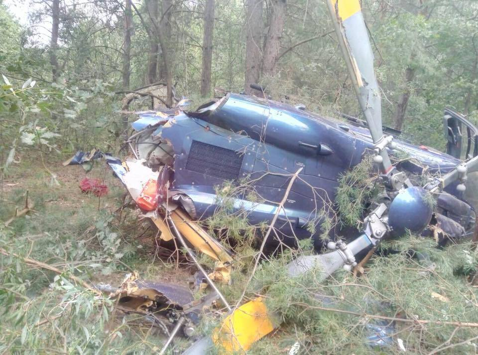 Крушение вертолета в Киеве: момент падения попал на видео