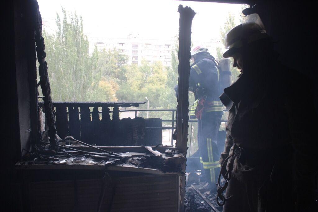 В Запорожье горела многоэтажка