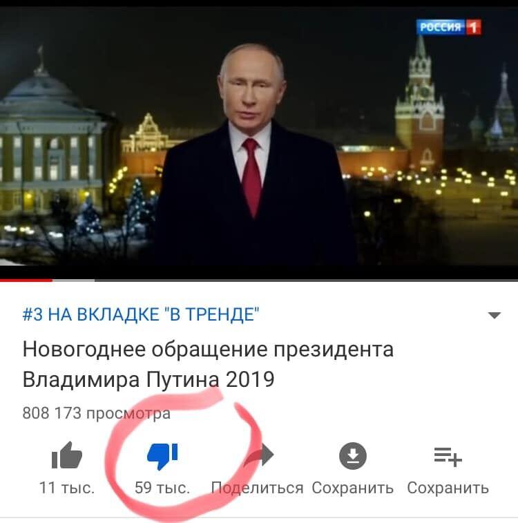 Новогоднее поздравление Путина обернулось позором