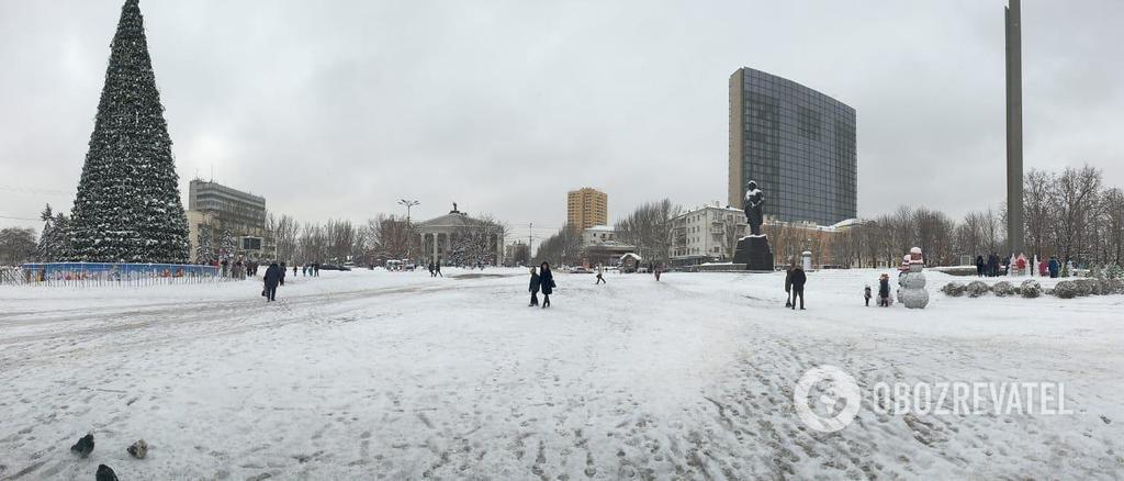 Фото Донецка: снег напал неожиданно