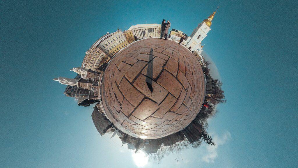 У мережі показали Київ з незвичного ракурсу
