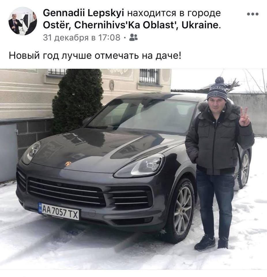 ''Зря ты, Гена'': чиновника КМДА поймали за рулем незадекларированного ''Порше''