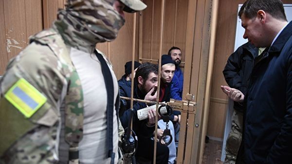 Украинские моряки в Лефортовском суде