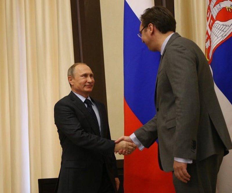 Володимир Путін і Олександр Вучич