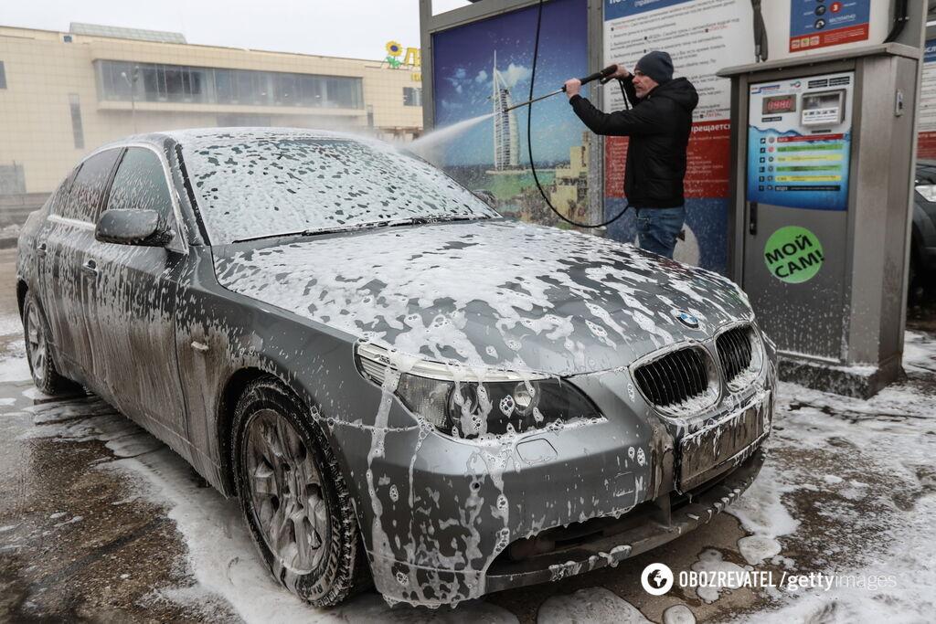 Как правильно мыть авто зимой